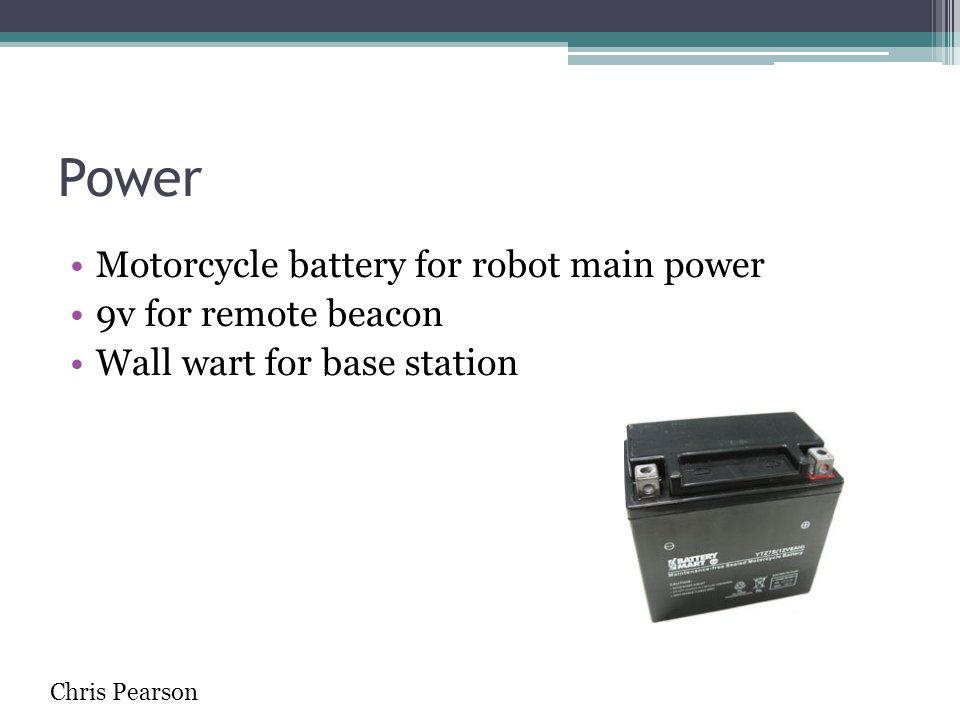 Power Motorcycle battery for robot main power 9v for remote beacon