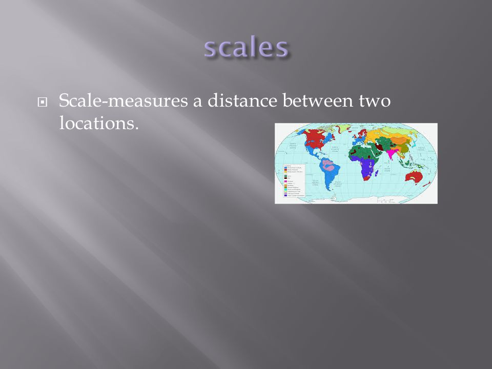 scales Scale-measures a distance between two locations.
