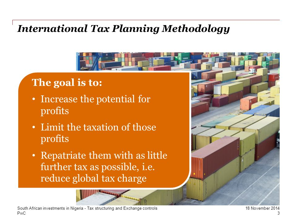 International Tax Planning Methodology