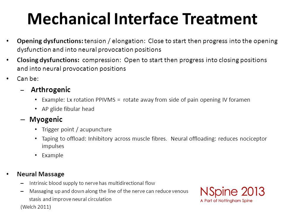Mechanical Interface Treatment