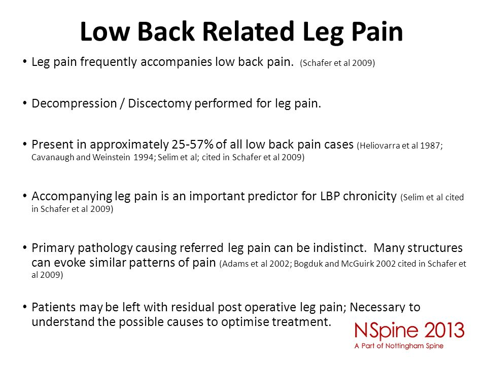 Low Back Related Leg Pain