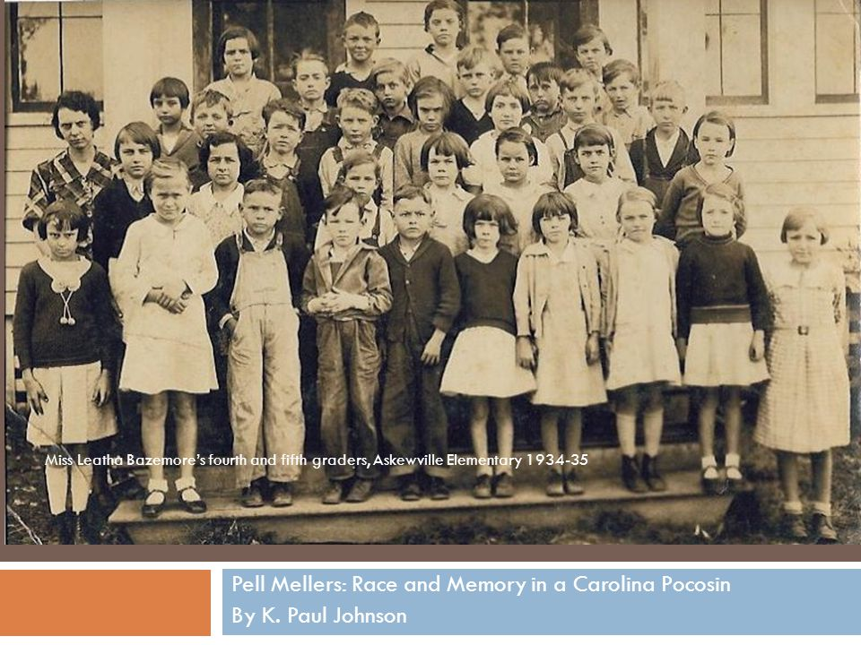 Pell Mellers: Race and Memory in a Carolina Pocosin By K. Paul Johnson