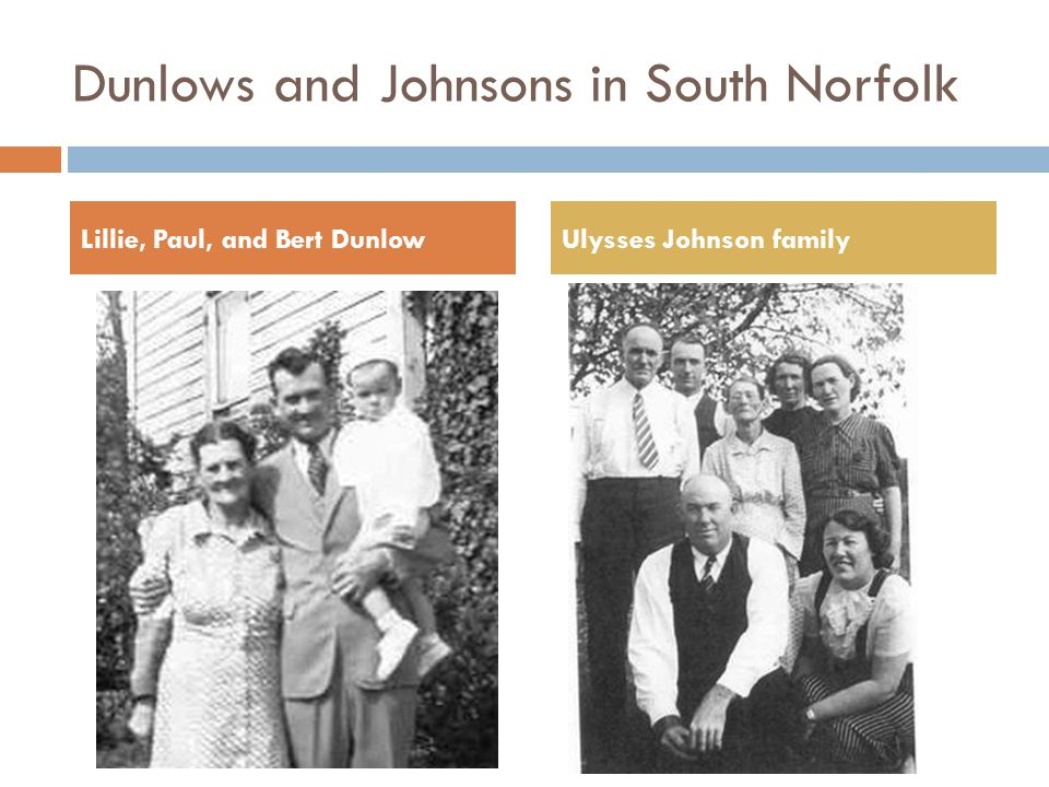 Dunlows and Johnsons in South Norfolk