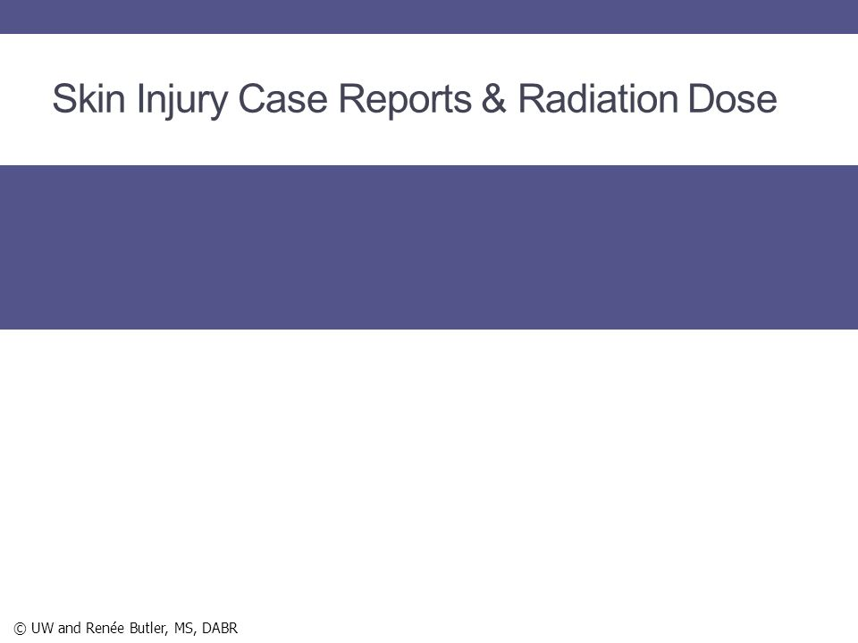 Skin Injury Case Reports & Radiation Dose