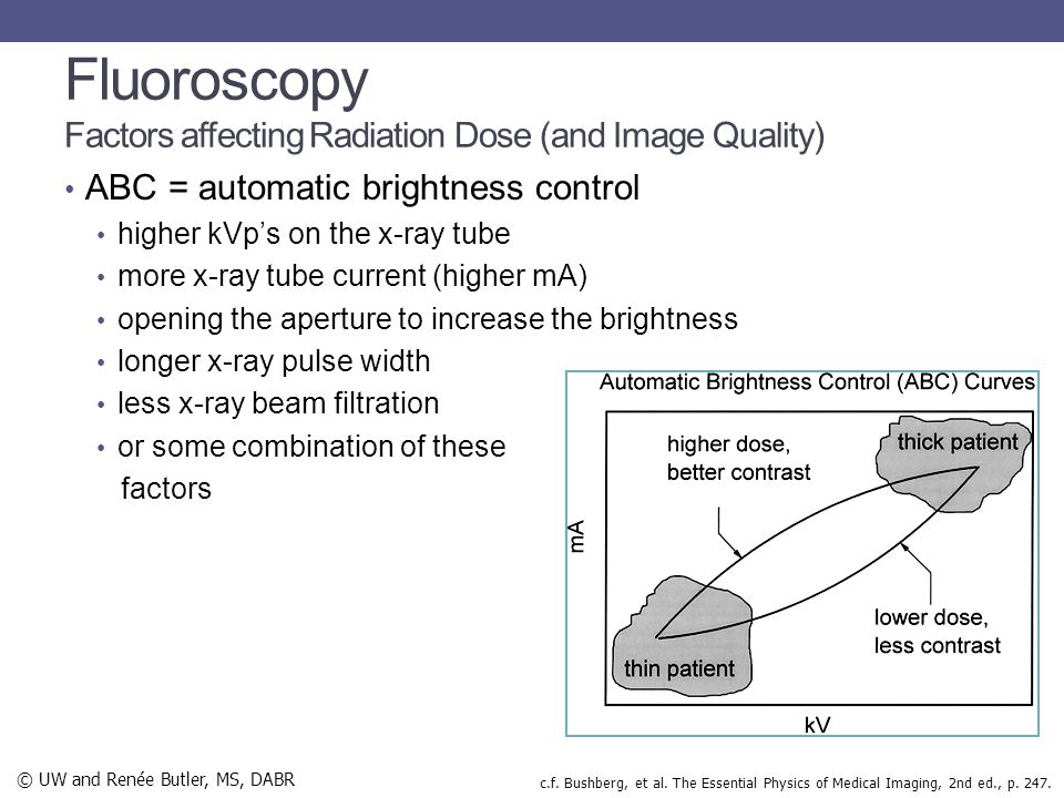 Fluoroscopy Factors affecting Radiation Dose (and Image Quality)