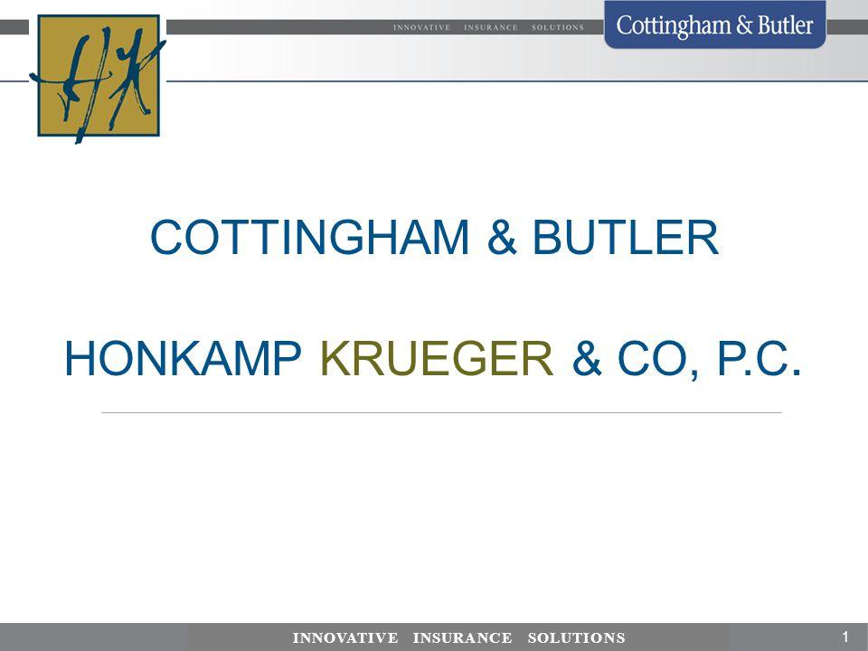 COTTINGHAM & BUTLER HONKAMP KRUEGER & CO, P.C.