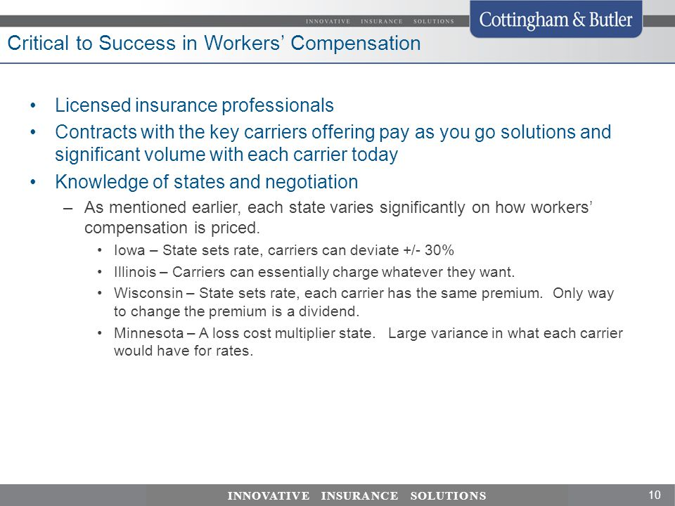 Critical to Success in Workers' Compensation