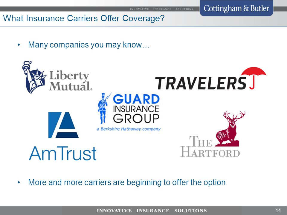 What Insurance Carriers Offer Coverage