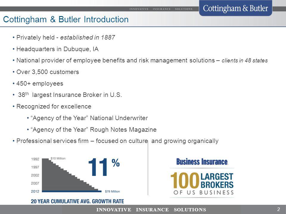Cottingham & Butler Introduction