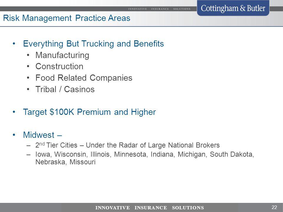 Risk Management Practice Areas