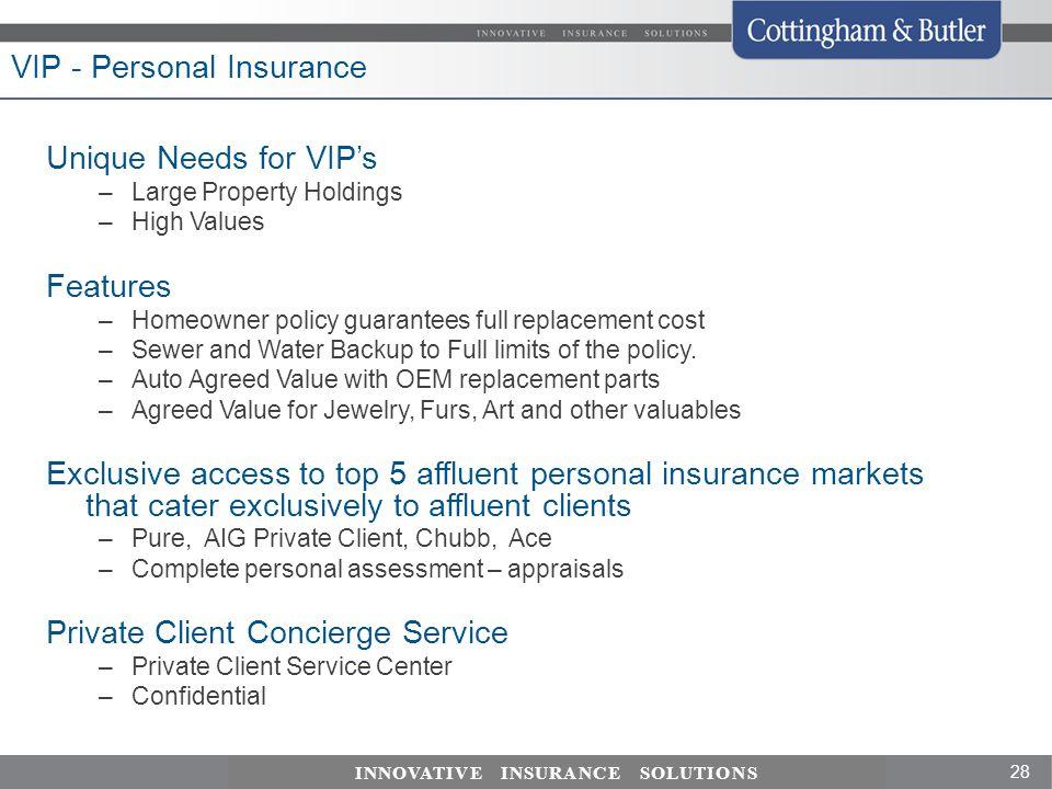 VIP - Personal Insurance