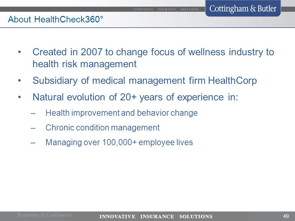 Subsidiary of medical management firm HealthCorp