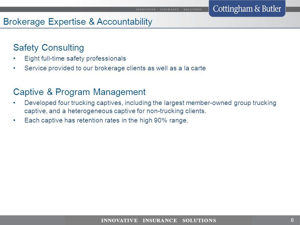 Brokerage Expertise & Accountability