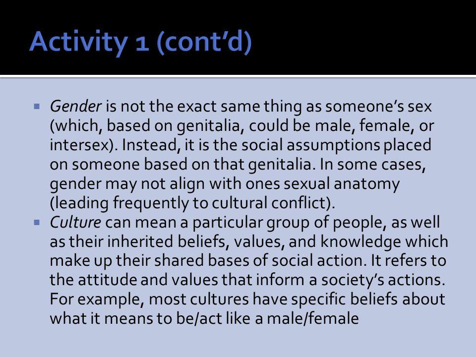 Activity 1 (cont'd)