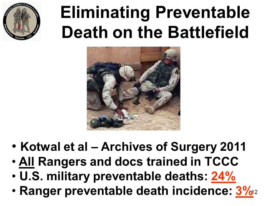Eliminating Preventable Death on the Battlefield