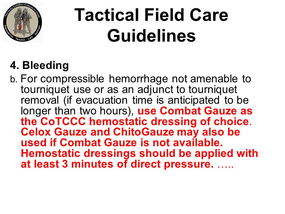 Tactical Field Care Guidelines