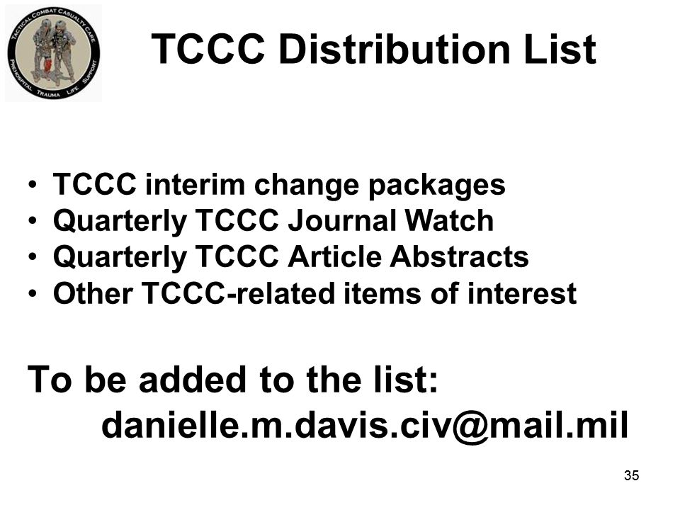 TCCC Distribution List