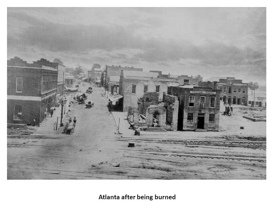 Atlanta after being burned