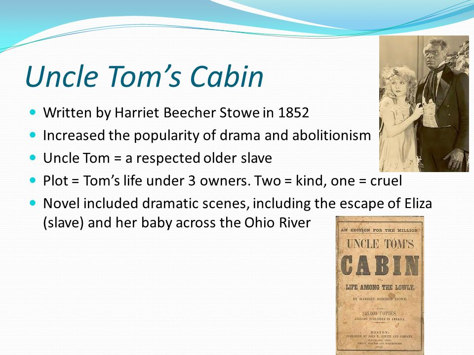 a reaction to harrier beecher stowes uncle toms cabin Harriet beecher stowe discovered a way to combine the strongly marked gender   her writing of uncle tom's cabin was precipitated by two events, one in her   in response to charges that she misrepresented the institution of slavery (she.