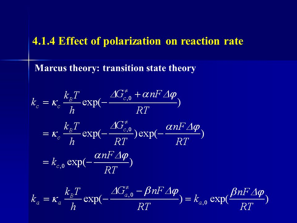 4.1.4 Effect of polarization on reaction rate