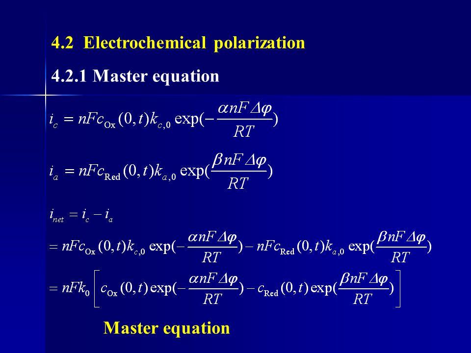 4.2 Electrochemical polarization