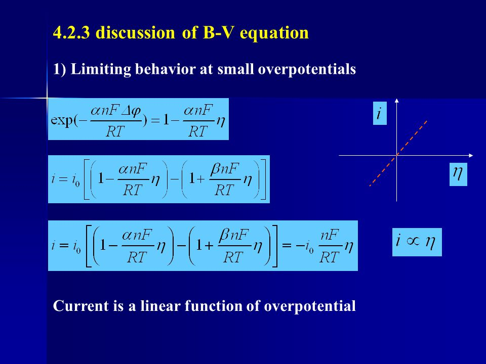4.2.3 discussion of B-V equation