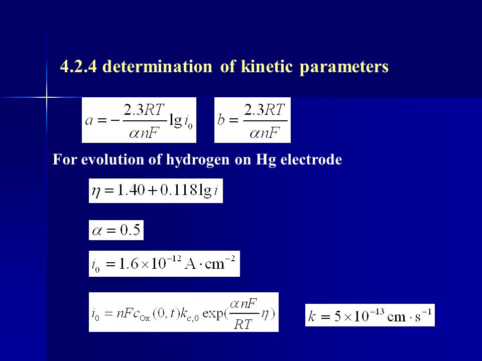 4.2.4 determination of kinetic parameters