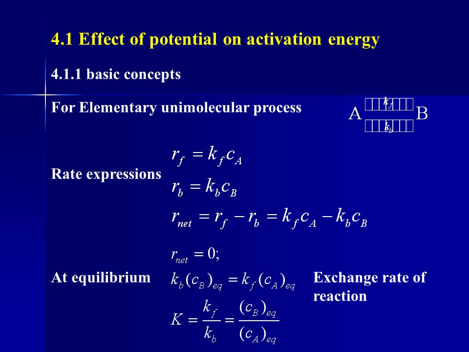 4.1 Effect of potential on activation energy