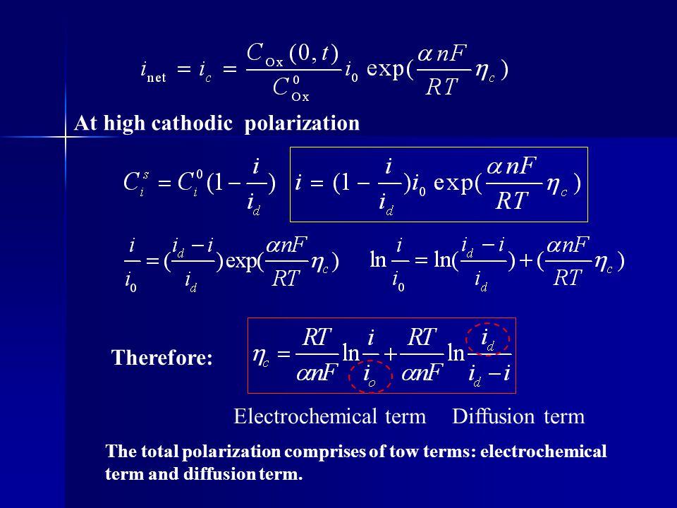 At high cathodic polarization