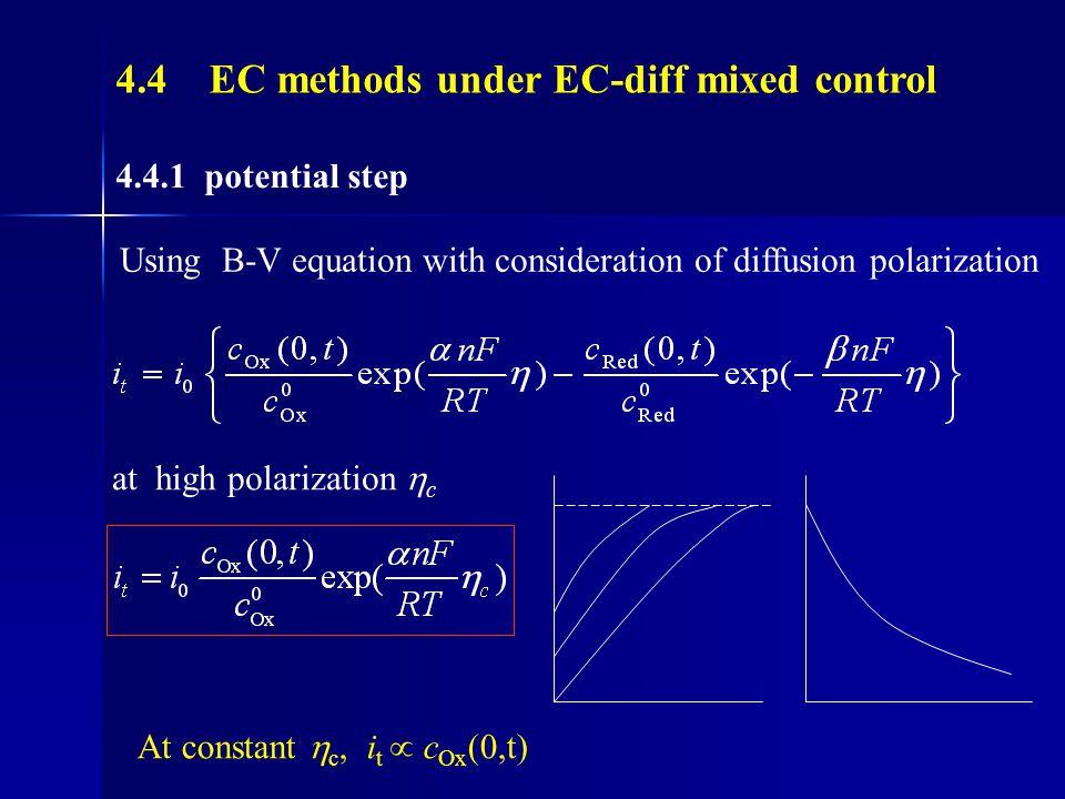 4.4 EC methods under EC-diff mixed control