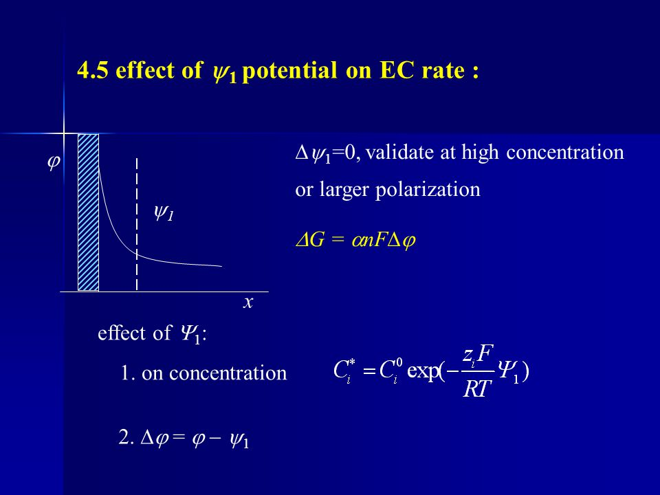 4.5 effect of 1 potential on EC rate :