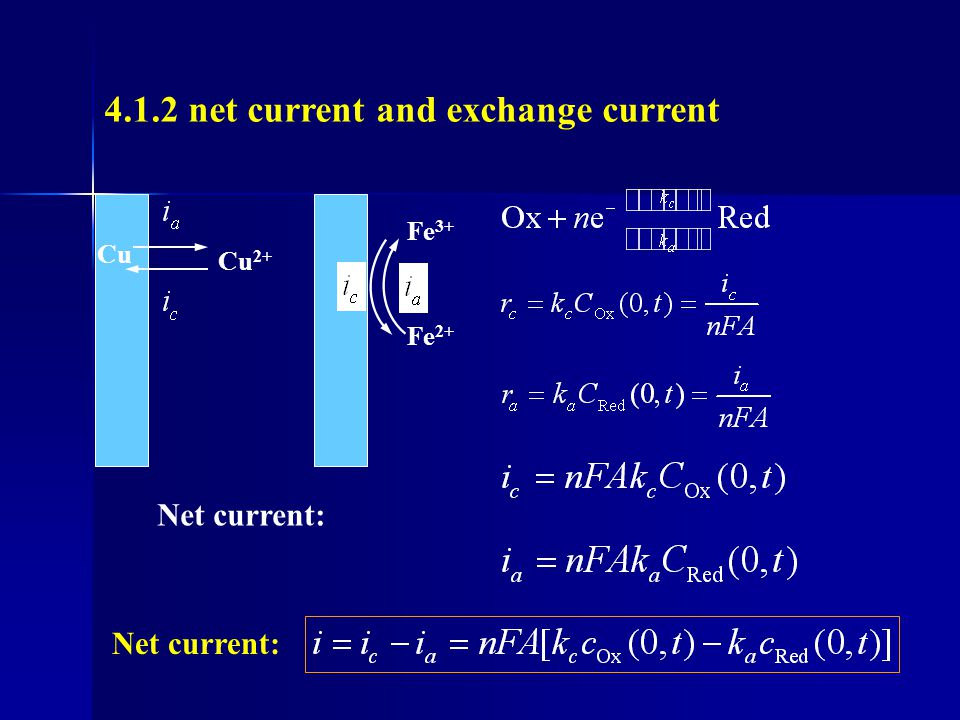 4.1.2 net current and exchange current