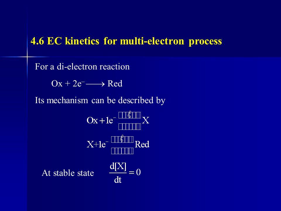 4.6 EC kinetics for multi-electron process