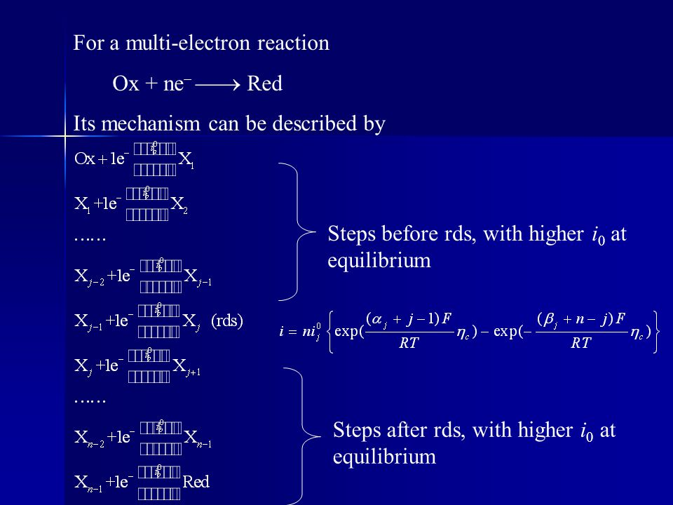 For a multi-electron reaction