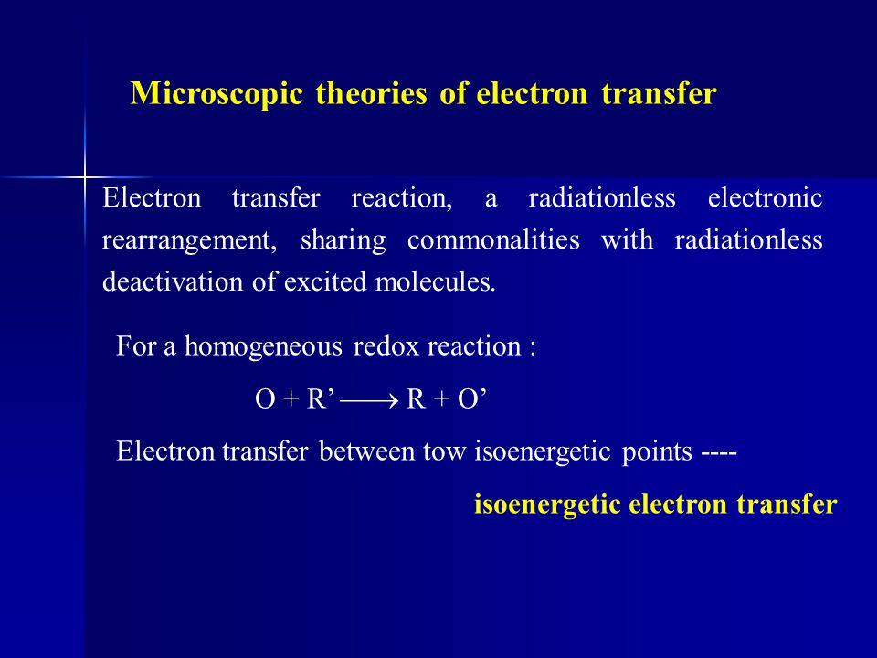 Microscopic theories of electron transfer