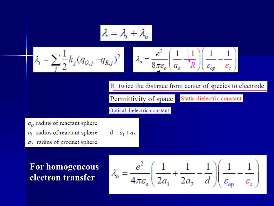 For homogeneous electron transfer