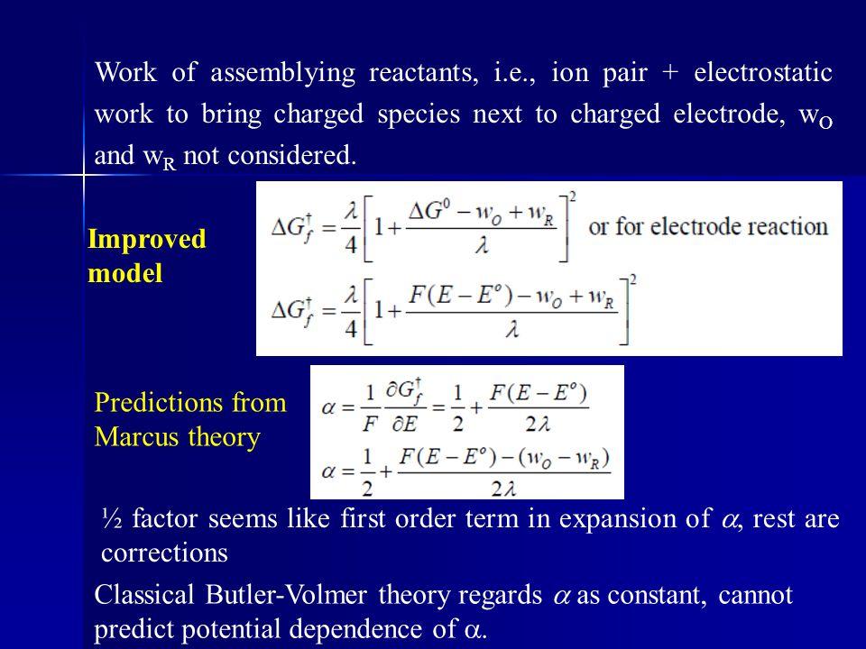 Work of assemblying reactants, i. e