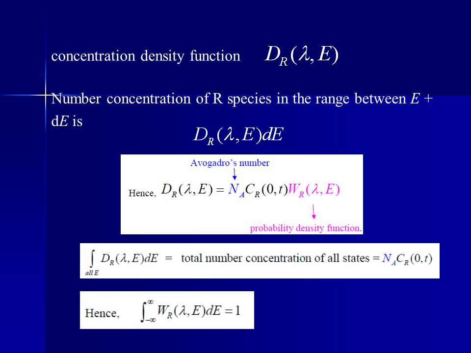 concentration density function