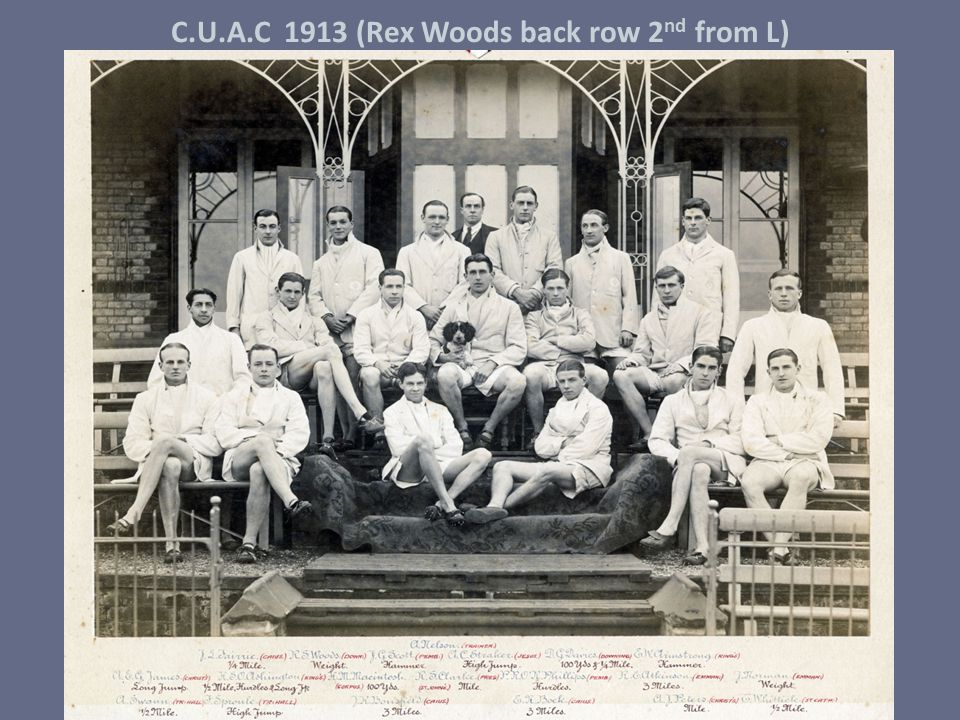 C.U.A.C 1913 (Rex Woods back row 2nd from L)