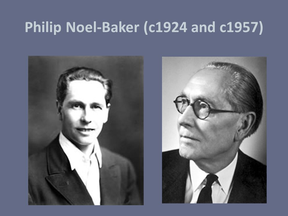 Philip Noel-Baker (c1924 and c1957)