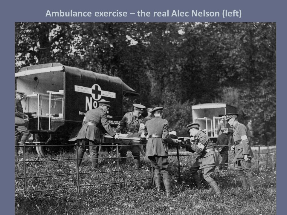 Ambulance exercise – the real Alec Nelson (left)