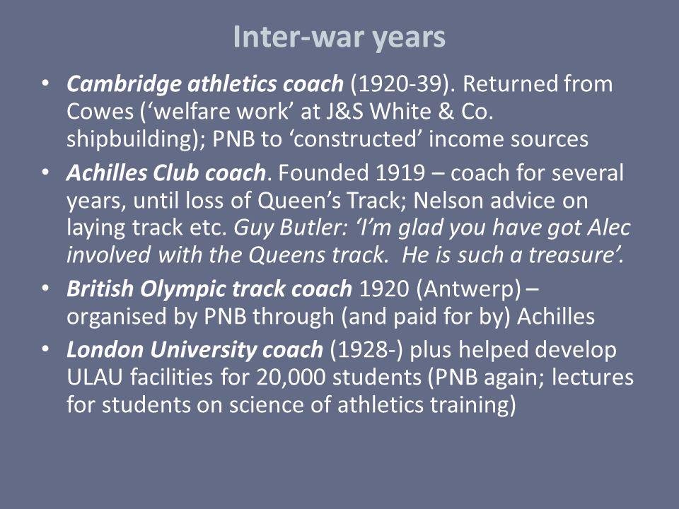 Inter-war years