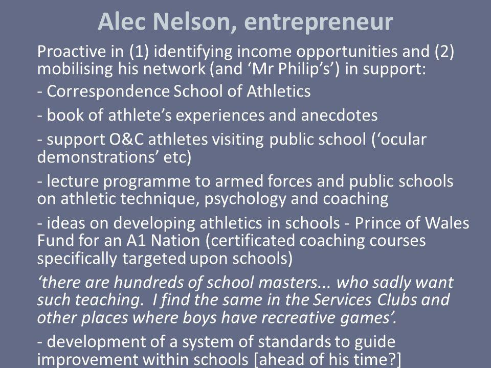 Alec Nelson, entrepreneur