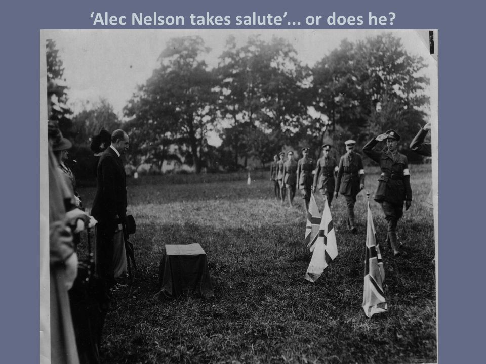 'Alec Nelson takes salute'... or does he