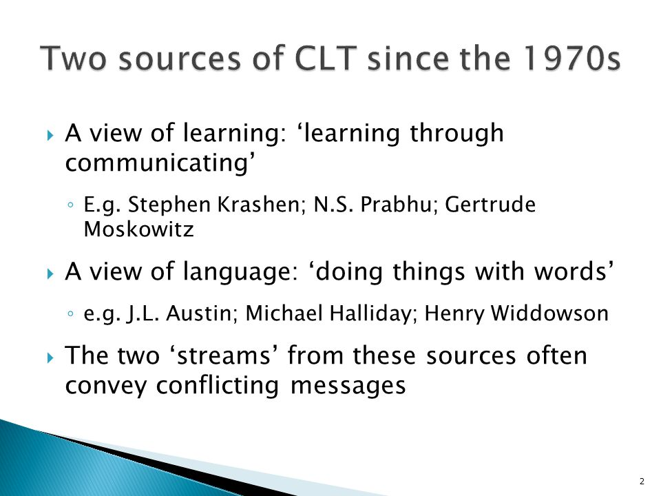 Two sources of CLT since the 1970s
