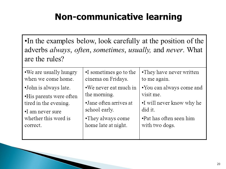 Non-communicative learning
