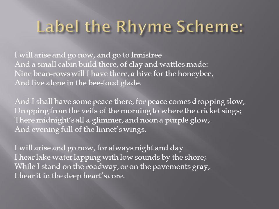 Label the Rhyme Scheme:
