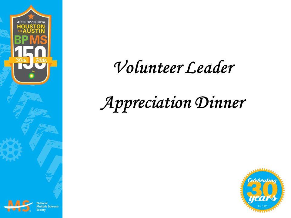 Volunteer Leader Appreciation Dinner