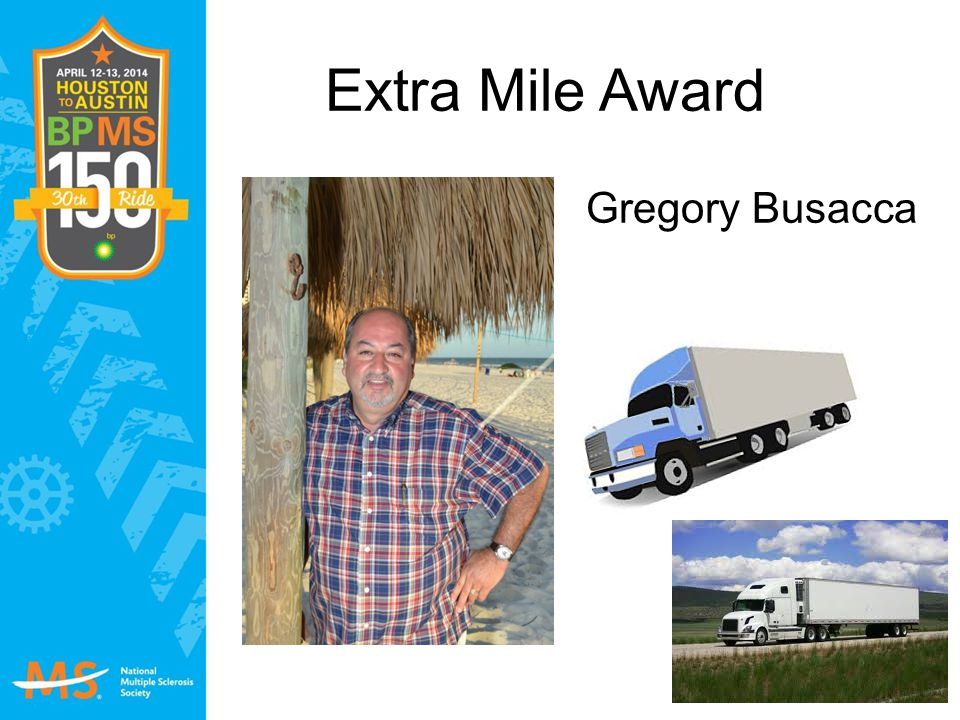 Extra Mile Award Gregory Busacca