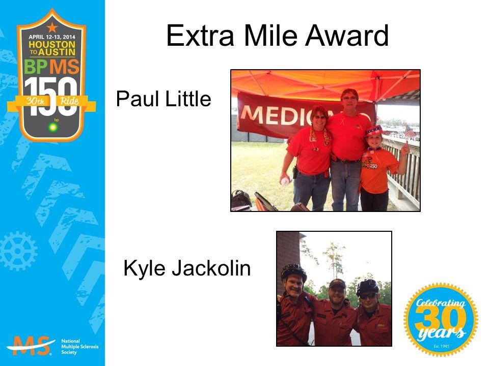 Extra Mile Award Paul Little Kyle Jackolin